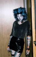 Slouching Werecat Girl by Gun-Cougar