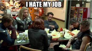 Avengers - I hate my job by SkullSkellBlink
