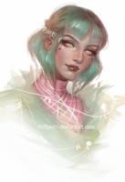 Elf Portrait by Kirigashi