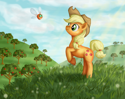 Applejack by WhiteEyedCat