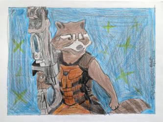 Rocket Raccoon Drawing by Ag3ntAn0nym0us