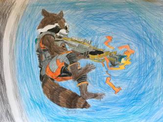 Rocket Raccoon by Ag3ntAn0nym0us