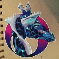 Space Giraffe by XxWingsxOnxVenxX