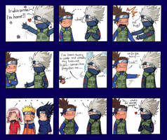 KakaIru chibi comic strip by carkiechu
