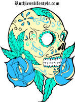 Day of the dead skull by JeremyWorst