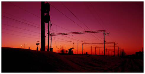 Sunset Station . by Colorcatcher