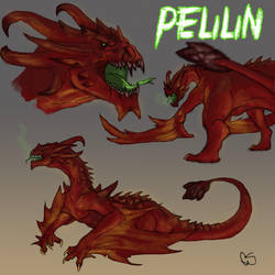 Pelilin - Colored Sketch Commish by GoldammerArt