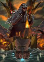 Poster- Godzilla 1700 by GoldammerArt