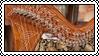 Celtic harp stamp #1 by GoldammerArt