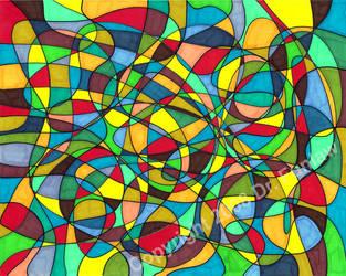 Stained Glass Swirl by DrFunlaw