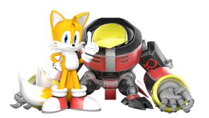 [BLENDER] TAILS AND OMEGA by AnthonyBlender