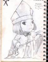 chibby monk by AeroleFlock
