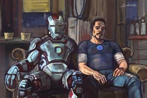 Iron Man: Tired by Kaktus-Olya
