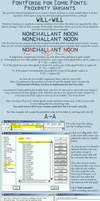 FontForge for Comic Fonts: Proximity Variants by eishiya