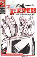 C2E2 Sketch Cover - Optimus by wheretheresawil