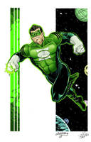 Green Lantern - Kyle Rayner Colors by wheretheresawil