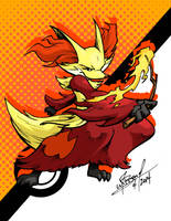 Delphox by wheretheresawil