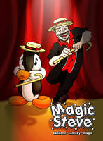 Magic Steve business card #2 by wheretheresawil