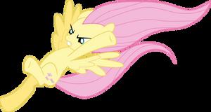 Fluttershy kick by Dusk2k