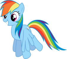 Happy Rainbow Dash by Dusk2k