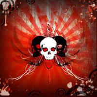 Skull Burst Splatter by ReaperXXIV