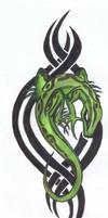 Tribal Lizard by ReaperXXIV