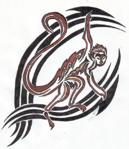 Tribal Monkey By Reaperxxiv On Deviantart