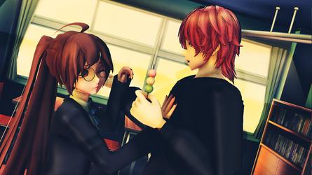 .:MMD:. Eat! [Happy Valentine's day!] | Niku M. by NikuMichaelis