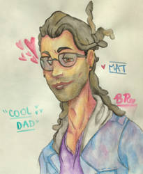 Mat From Dream Daddy (Water colored version) by ArtSheepInc