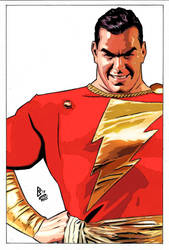 Shazam (Alex Ross redrawing) by FanPsart88
