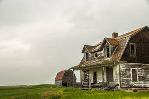 old house and barn by Marvmitty