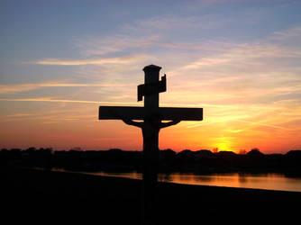 Cross at Sunset by katith02