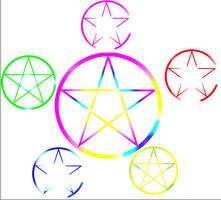 wicca stars elemental by Toboe217