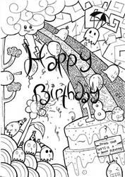 Simple Hand-made Birthday Card by rosilutfi
