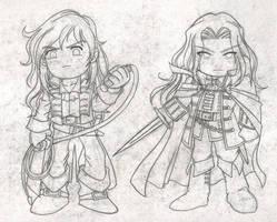 Castlevania Chibi Sketch by DioBrando