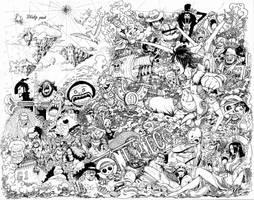 One Piece Doodle high reso by leemarej