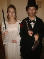 Elizabeth Bennet and Abraham Lincoln COSPLAY by meanbragwick1