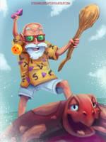 Master Roshi by SteveMillersArt