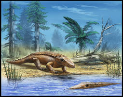 Chroniosuchus paradoxus by dustdevil