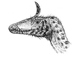 Cryolophosaurus by dustdevil