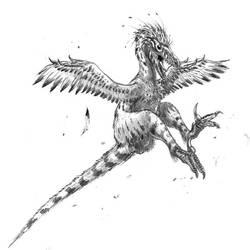 Linheraptor fight mode by dustdevil