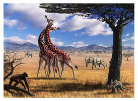 Pliocen of africa color by dustdevil