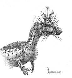 Cryolophosaurus ellioti by dustdevil