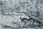 Eocen turtles in environment by dustdevil