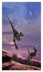 Fighting Cryolophosaurus by dustdevil