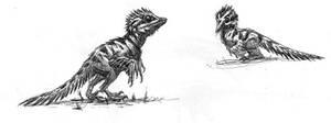 Archaeopteryx chicks by dustdevil