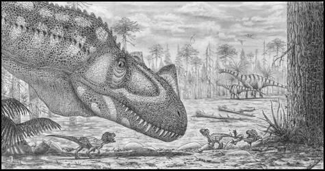 Ceratosaurus family by dustdevil