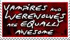 Stamp: Vampires AND Werewolves by Jammerlee