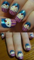 Cupcake Nails by kelles-nails
