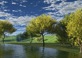 Wattle by the water by BGai